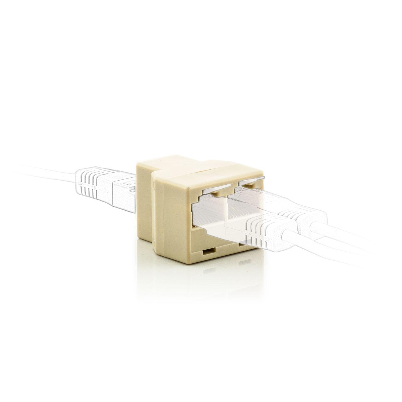 8p8c y splitter rj 45 netzwerkkabel doppler cat5 cat6 stecker lankabel verteiler ebay. Black Bedroom Furniture Sets. Home Design Ideas