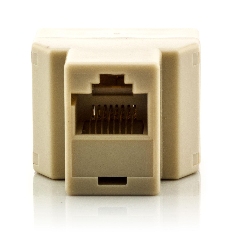 2x rj 45 splitter netzwerkkabel dose cat5 cat6 stecker lan kabel verteiler rj45. Black Bedroom Furniture Sets. Home Design Ideas