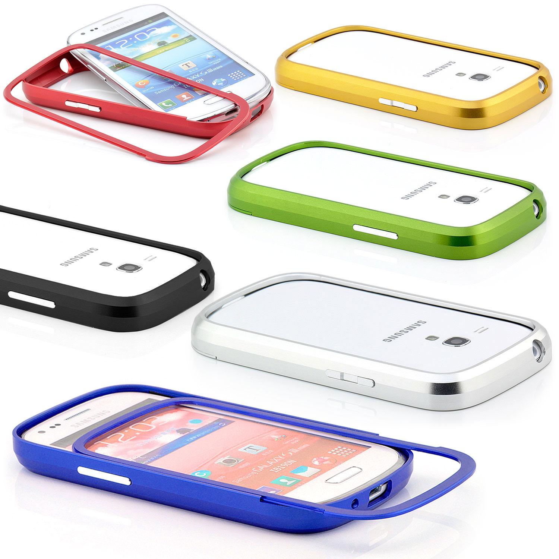 Aluminium Bumper Schutz Hülle Case Rahmen Etui Slim Cover Schale Handy Tasche