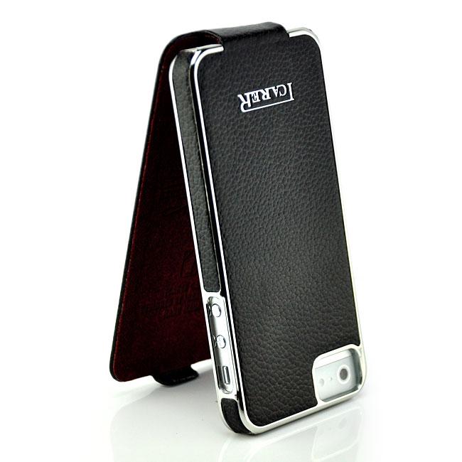 iCareR Leder Flip Case Tasche Schutz Hülle Bumper Etui Slim Cover für Handy