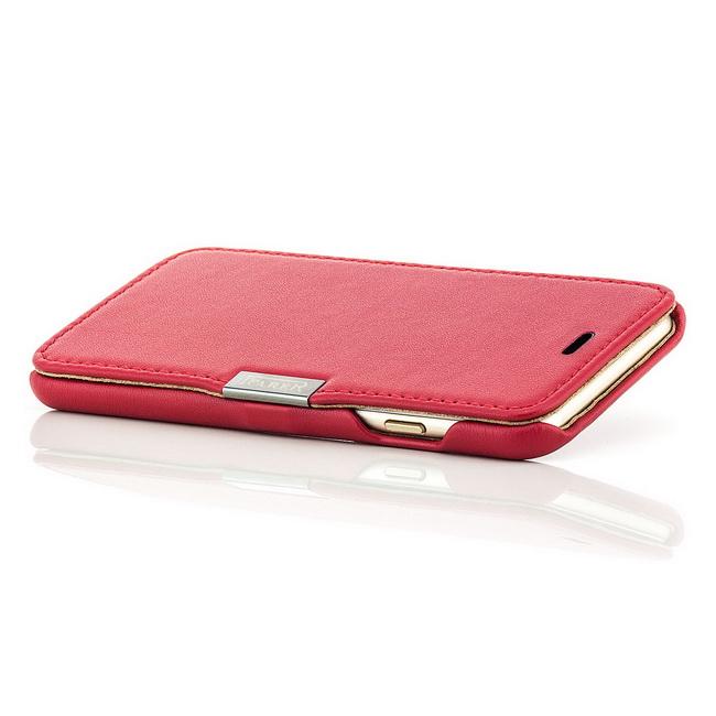 iCareR Echt Leder Flip Case Tasche Schutz Hülle Wallet Etui Slim Cover für Handy