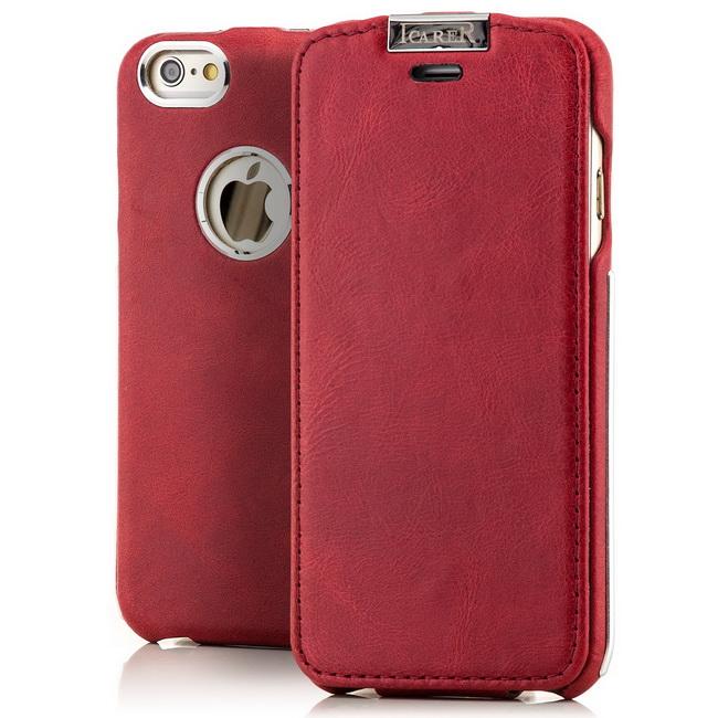Echt Leder Case für Apple iPhone 6S 6 5 4 S Tasche Schutz Hülle Cover Aluminium