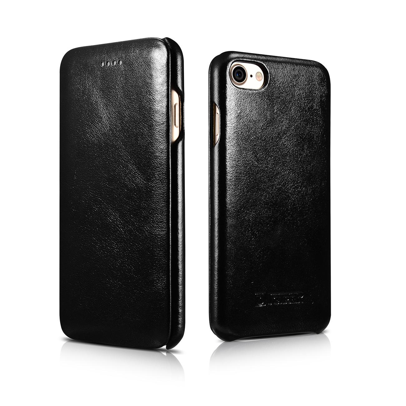 echt leder schutz h lle f r apple iphone 7 7 plus flip case handy tasche cover. Black Bedroom Furniture Sets. Home Design Ideas