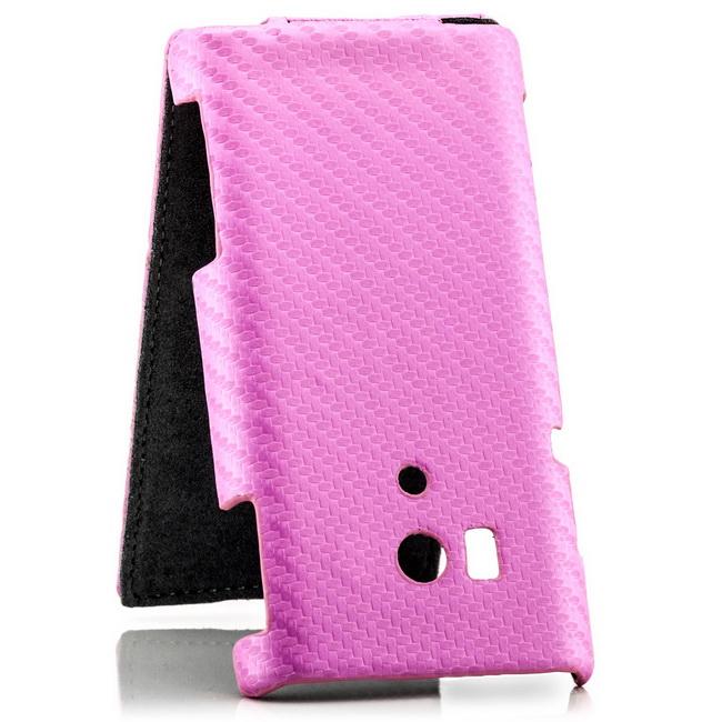 Carbon-Design-Flip-Case-Schutz-Huelle-Cover-Handy-Tasche-Bumper-Etui-Schale-Slim
