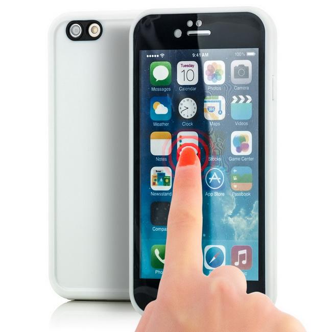 waterproof touch case f r apple iphone 6s 6 silikon schutz. Black Bedroom Furniture Sets. Home Design Ideas