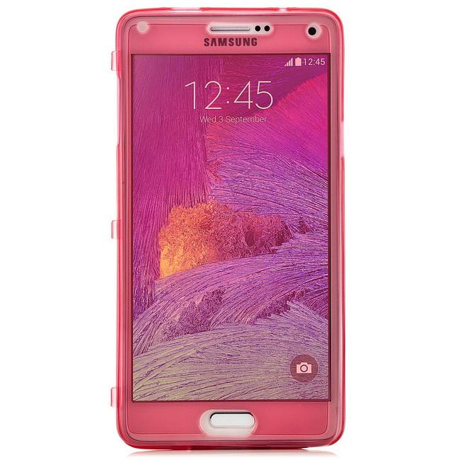 Saxonia-Touch-Silicone-Custodia-per-Smartphone-Protettiva-Flip-Case-Bumper
